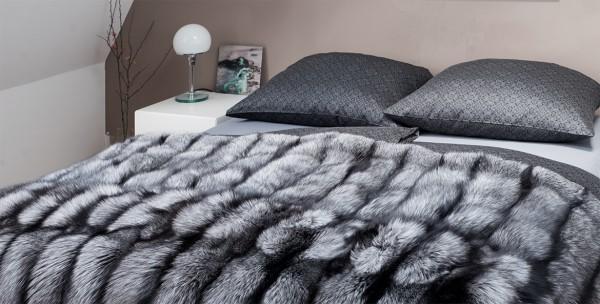 Fell-Decke Silberfuchs Natur 200cm x 140cm