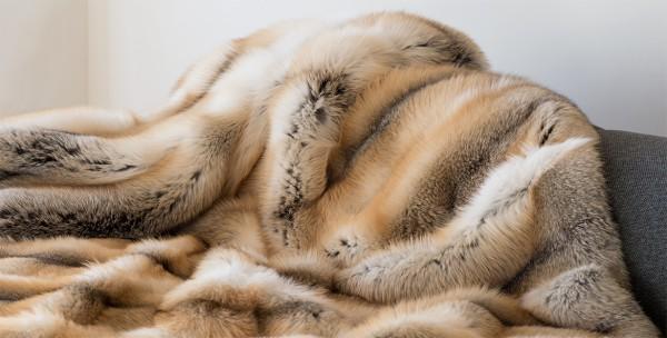 Fell-Decke Golden Island Fuchs Natur 200cm x 140cm